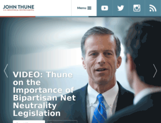 thune.senate.gov screenshot