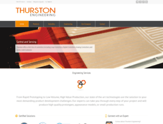 thurstonengineering.com screenshot