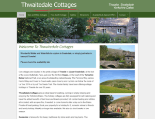 thwaitecottages.co.uk screenshot
