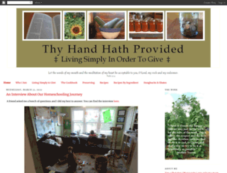 thyhandhathprovided.blogspot.com screenshot