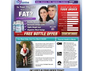 thyrominediet.yolasite.com screenshot