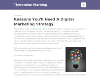 thyrominewarning.com screenshot