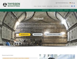 thyssen-schachtbau.de screenshot