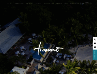 tiamoresorts.com screenshot