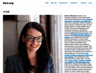 tiara.org screenshot