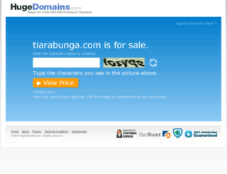 tiarabunga.com screenshot