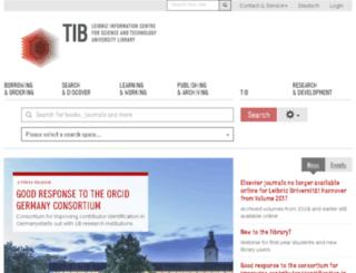 tib-hannover.de screenshot