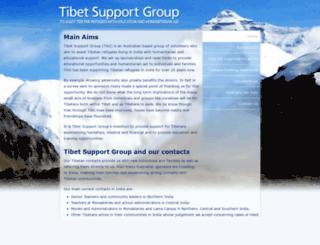 tibetsupportgroup.org screenshot