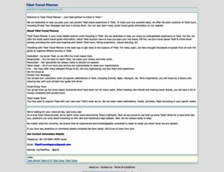 tibettravelplanner.com screenshot