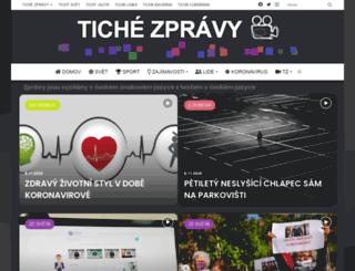 tichezpravy.cz screenshot