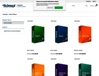 ticimax.net screenshot
