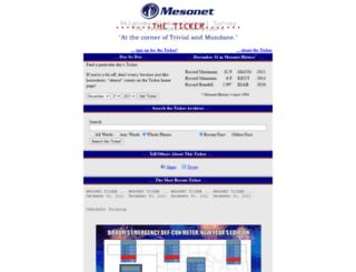 ticker.mesonet.org screenshot