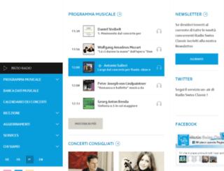 ticker.radiosvizzeraclassica.ch screenshot