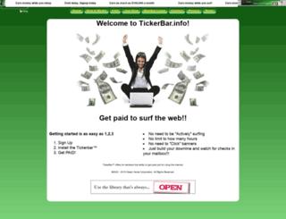 tickerbar.info screenshot