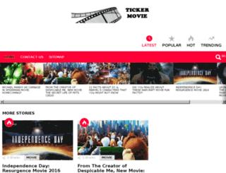tickermovie.com screenshot