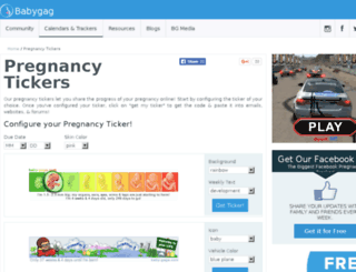 tickers.babygaga.com screenshot