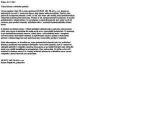 ticket-art.cz screenshot
