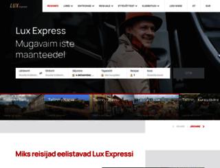 ticket.luxexpress.eu screenshot