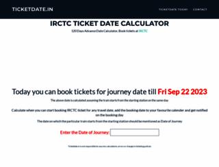 ticketdate.in screenshot