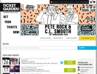 ticketgarden.com screenshot