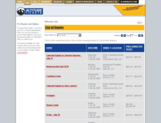 tickethorse.flashseats.com screenshot