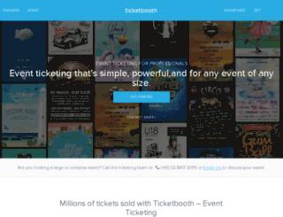 ticketing.ticketbooth.com.au screenshot