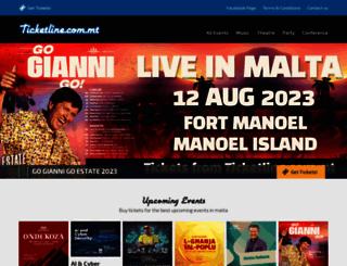 ticketline.com.mt screenshot