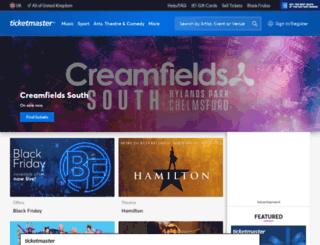 ticketmaster.co.uk screenshot