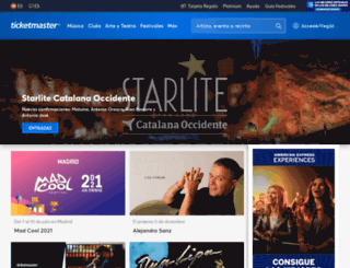 ticketmaster.es screenshot