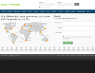 ticketmyworld.com screenshot