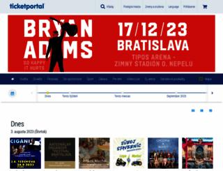 ticketportal.sk screenshot