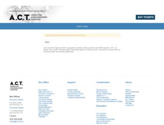 tickets.act-sf.org screenshot
