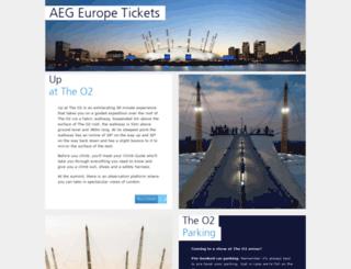 tickets.aegeurope.com screenshot
