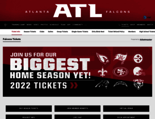 tickets.atlantafalcons.com screenshot