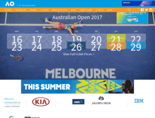tickets.ausopen.com screenshot