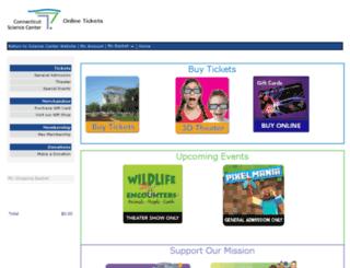 tickets.ctsciencecenter.org screenshot