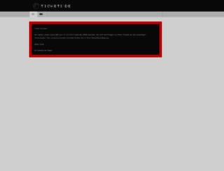 tickets.de screenshot