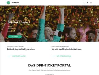 tickets.dfb.de screenshot