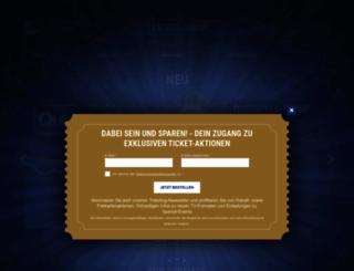 tickets.endemolshine.de screenshot