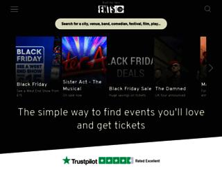 tickets.ents24.com screenshot