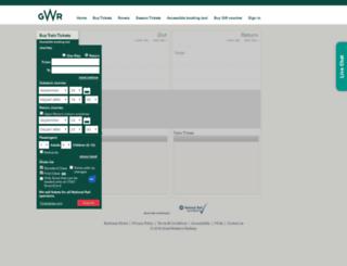 tickets.firstgreatwestern.co.uk screenshot