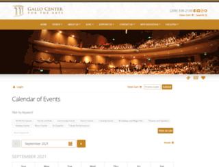tickets.galloarts.org screenshot