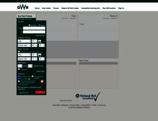 tickets.gwr.com screenshot