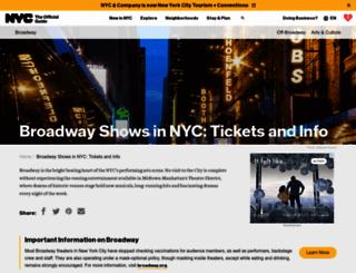 tickets.nycgo.com screenshot