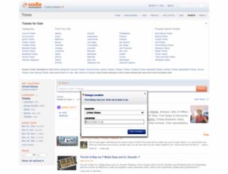 tickets.oodle.com screenshot