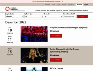tickets.orsymphony.org screenshot