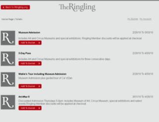 tickets.ringling.org screenshot