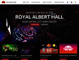 tickets.royalalberthall.com screenshot