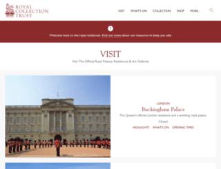 tickets.royalcollection.org.uk screenshot