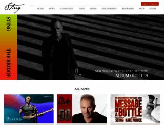 tickets.sting.com screenshot